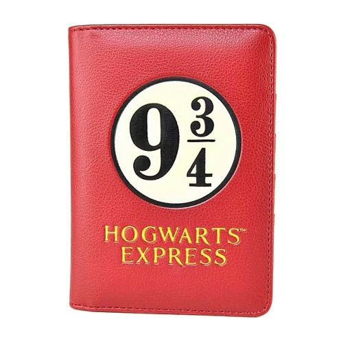 Harry Potter 9 3/4 Hogwarts Express Passport Holder Card Travel Wallet